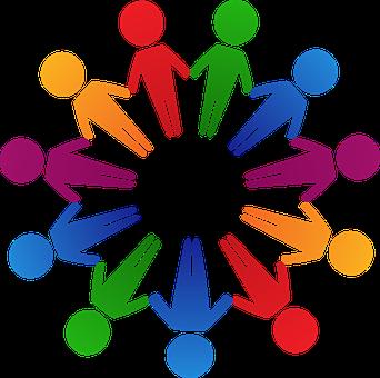 Círculo, Colorido, Cooperación