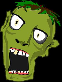 Zombie, Head, Horror, Halloween, Zombie