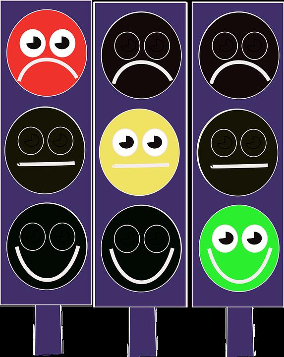 Et trafikklys kan effektivt illustrere når vi er innenfor og utenfor vårt toleransevindu for konfliktfulle følelser.