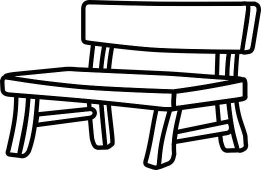 furniture set clipart black and white. bank bench furniture garden park set clipart black and white w