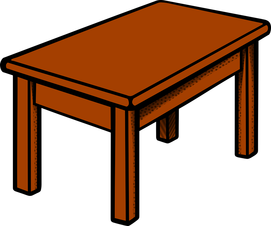 Transparent Coffee Table Uk: Table Furniture · Free Vector Graphic On Pixabay