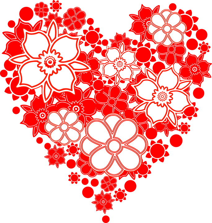 free vector graphic flowers, heart, hearth  free image on, Beautiful flower
