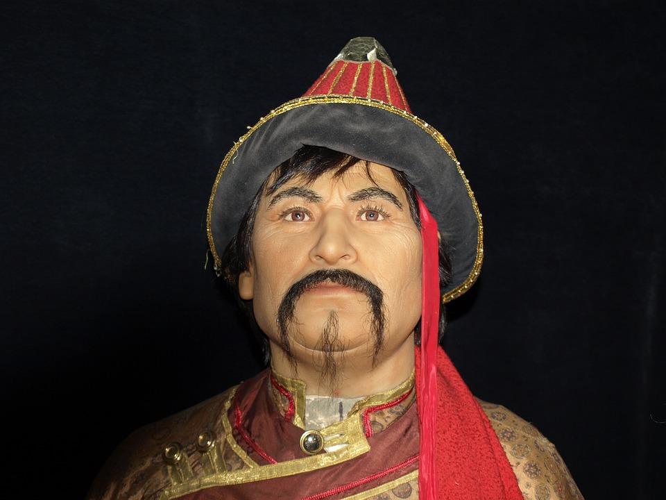 genghis khan portrait wax figures 183 free photo on pixabay