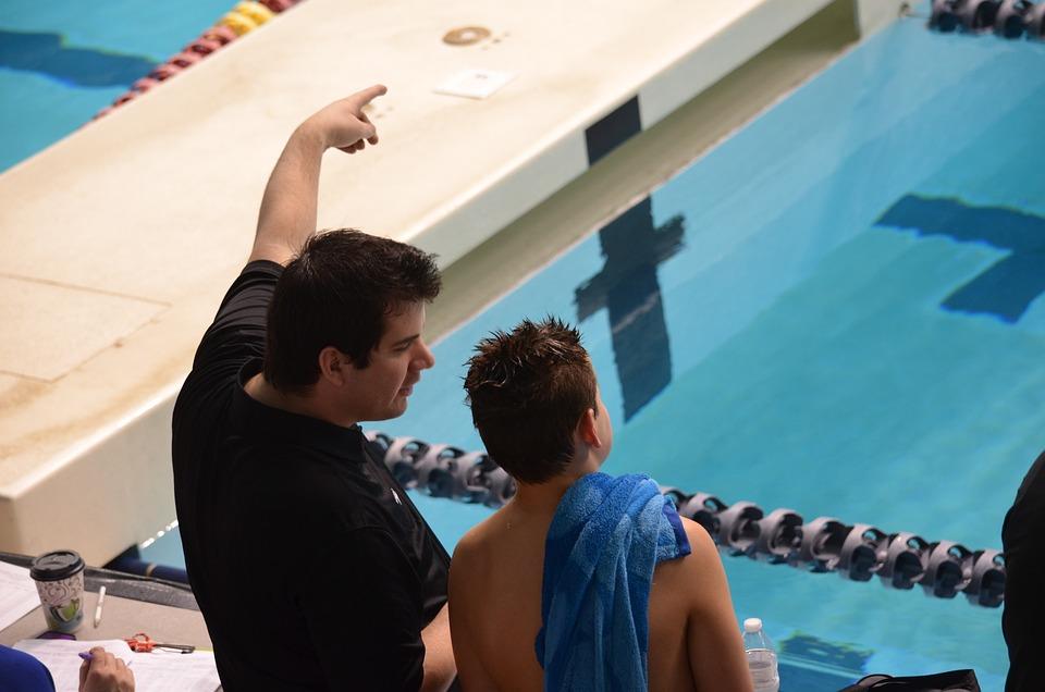 Úszás, Coaching, Pool, Edző, Sport, Swimmer