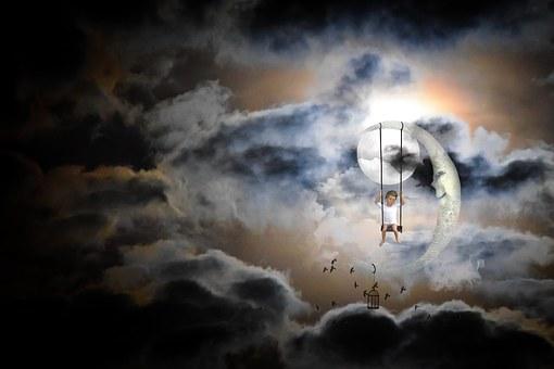 Moon, Moonlight, Dream World, Dream