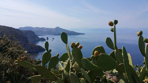 Eolie, Mare, Panorama, Isola