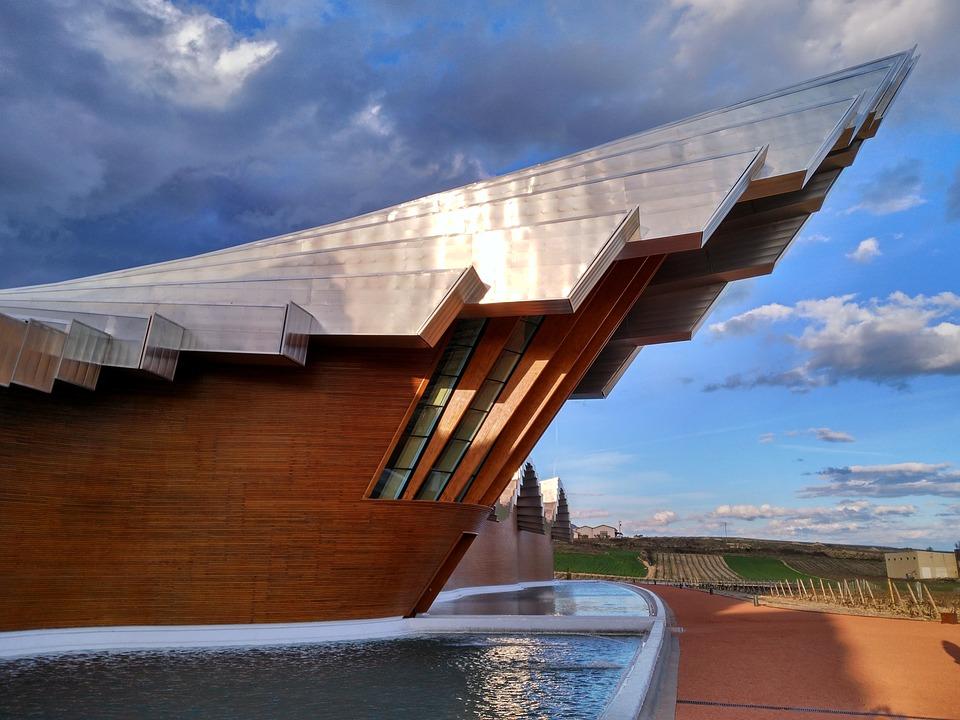 Gebaude Architektur Holz Himmel Weingut Moderne