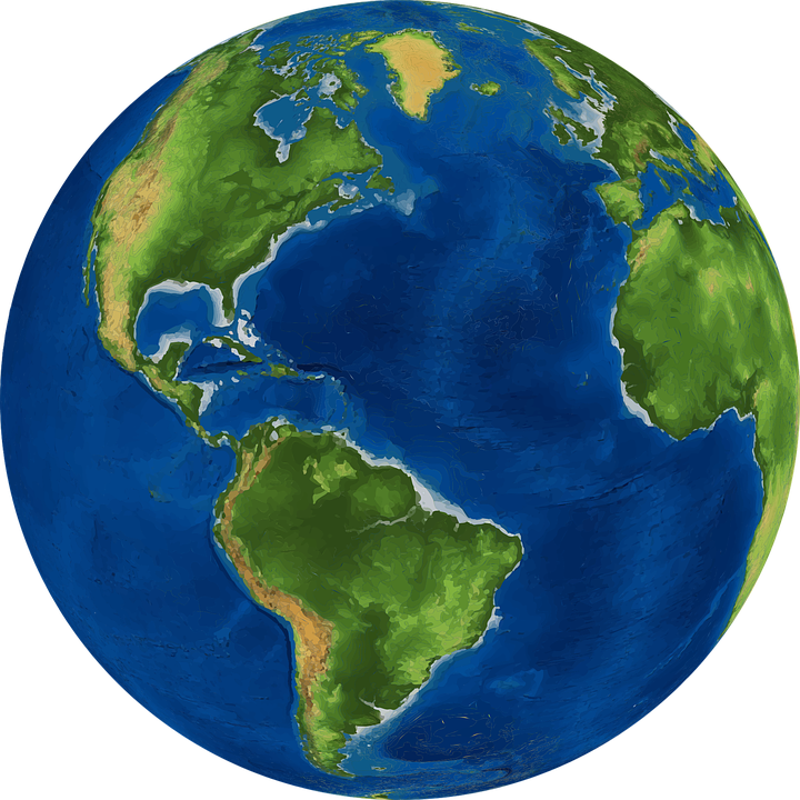 Free Vector Graphic World Earth Planet Globe Map Free Image - Globe map of the world