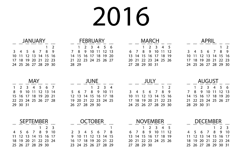 Year To Date Calendar : Free vector graphic calendar date month year time