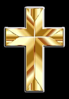 Jesus, Christ, Cross, Crucifix, Gold