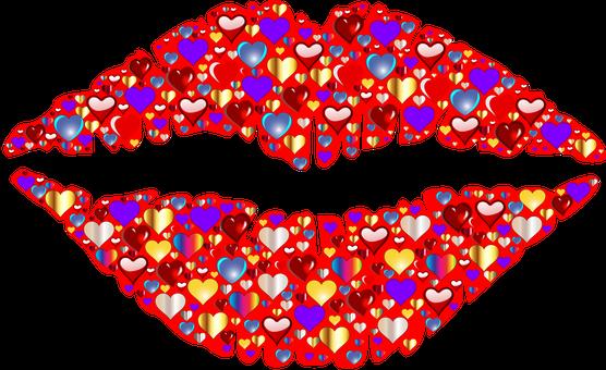 Coeur, Lèvres, Kiss, Romance, Passion