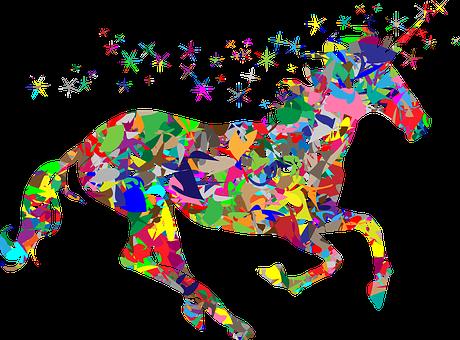 Colorful Prismatic Chromatic Rainbow Polyg