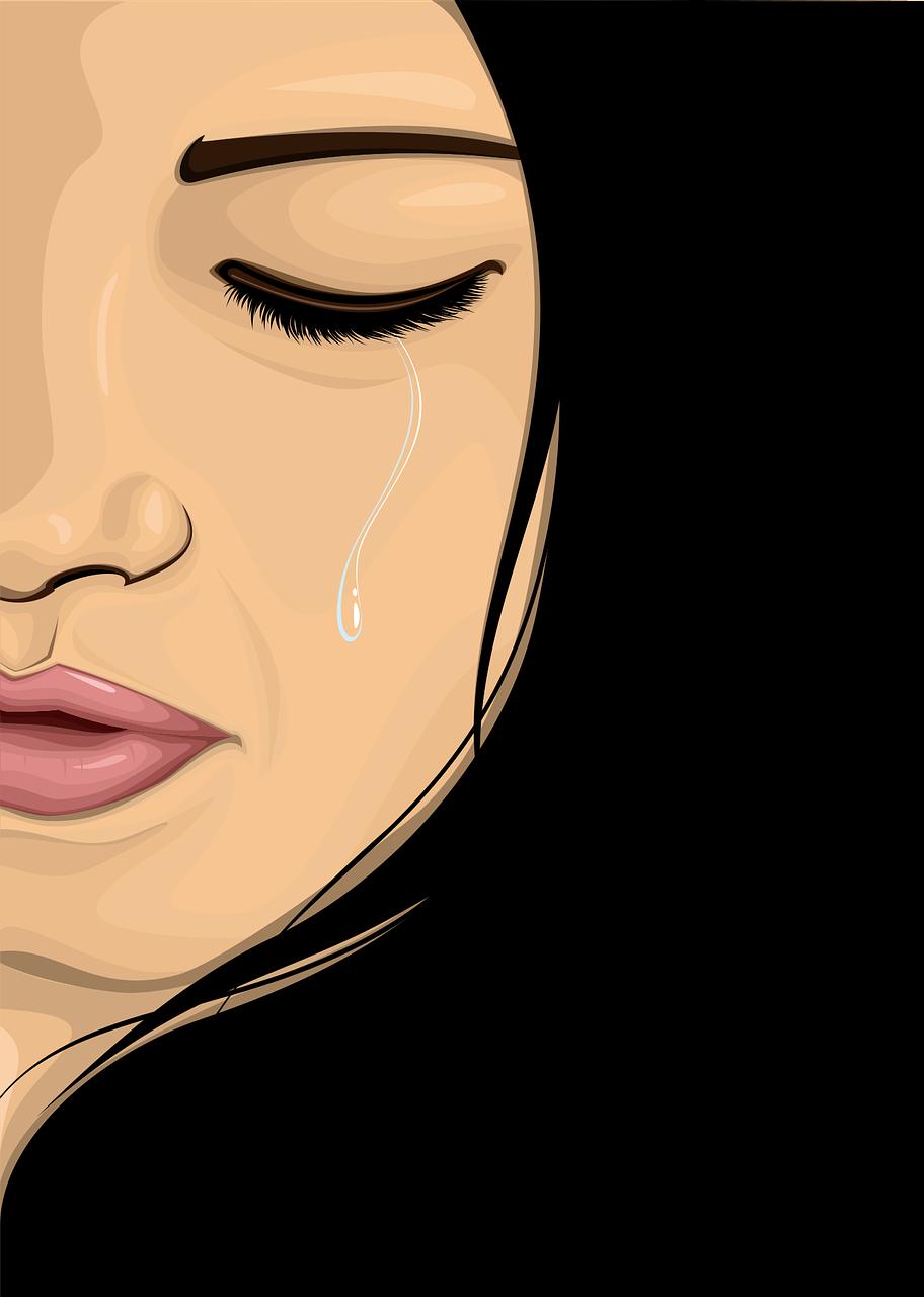 Wanita Menangis Wajah Gambar Vektor Gratis Di Pixabay
