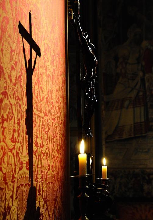 Christ Shadow Candle Free Photo On Pixabay