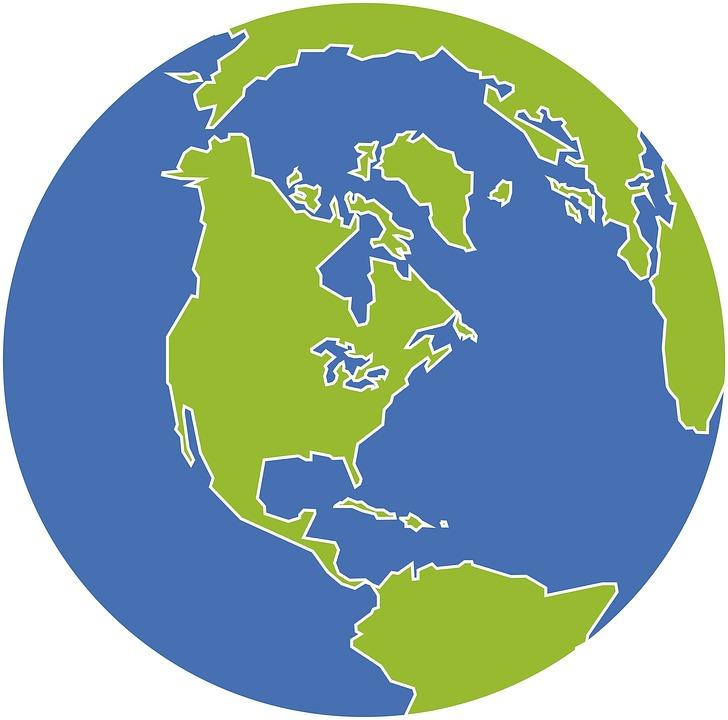 Free Illustration World Globe Sphere Earth Map Free Image - Us globe map