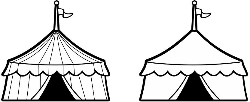 Fun White Architecture Sale Carnival Park  sc 1 st  Pixabay : black and white circus tent - memphite.com