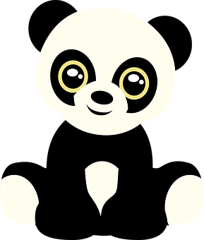 panda vector graphics pixabay download free images