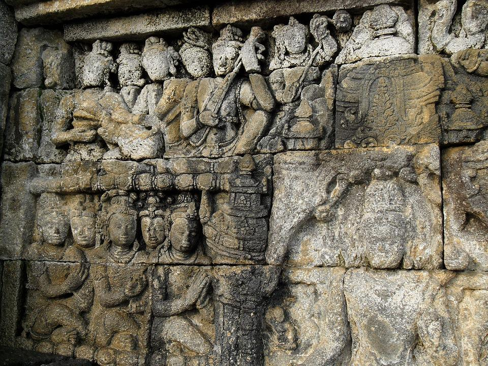 Borobudur, Indonesia, Temple, Buddhism, Relief, Java