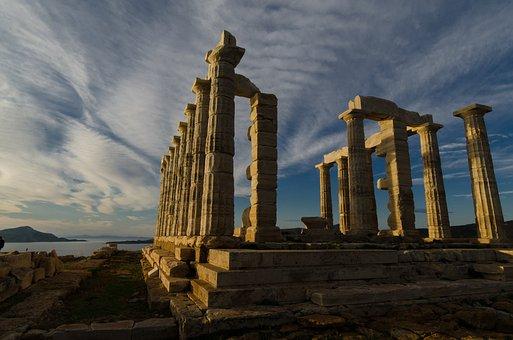 Vista de Cabo Sunión Grecia