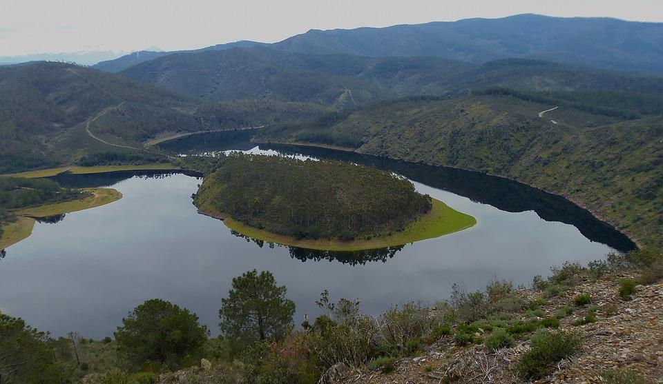 Meander, Rzeka, Charakter, Wody, Krajobraz, Hiszpania