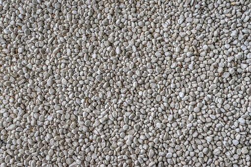 Stone, Gravel, White, Pattern, Texture