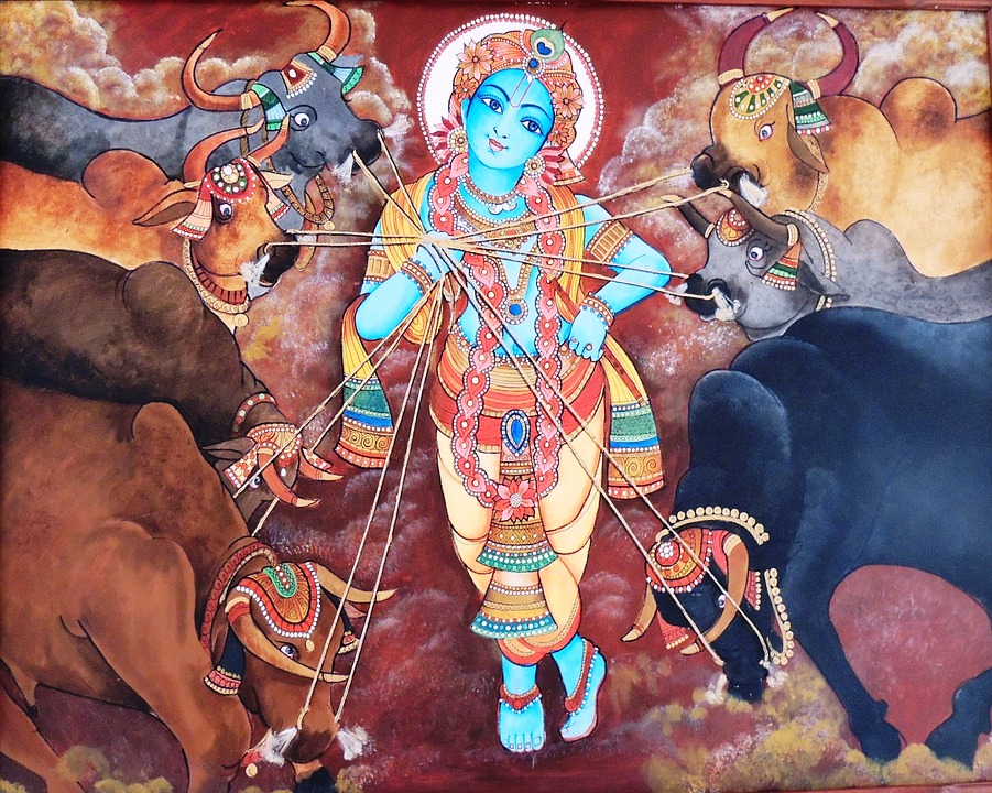 painting 1307395 960 720 Best Lord Krishna HD Photos Images,Wallpapers:[Rare Collection]