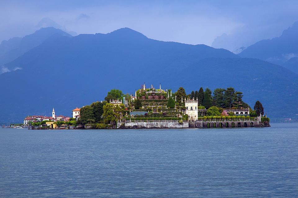 Sziget, Lago Maggiore, Isolabella, Olaszország, Tó