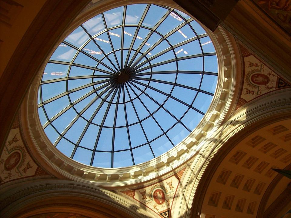 アーキテクチャ 建物 建設 モノクロ 金属 天井テクスチャ 天井 ガラスの天井