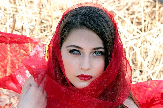 Girl Red Green Eyes  Free Photo On Pixabay-2187
