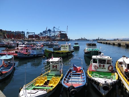 Valparaiso Chile Puerto Dia Barcos Valpara