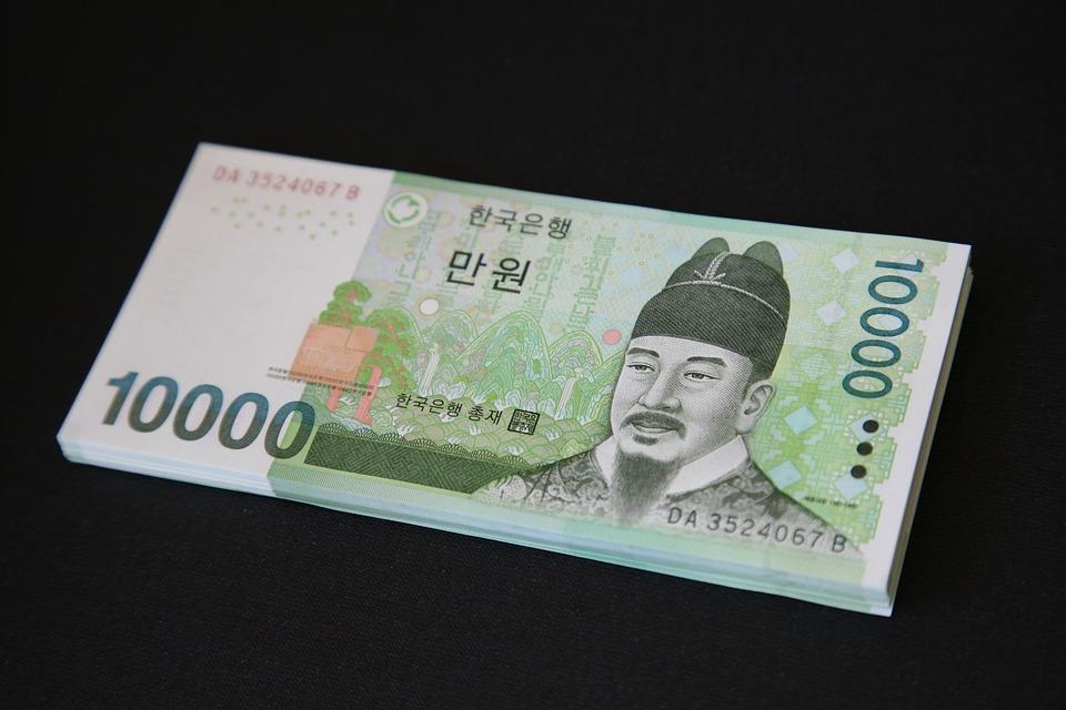 Uang, Uang Kertas, Don, 10 000 Usd, Krw, Korea Uang