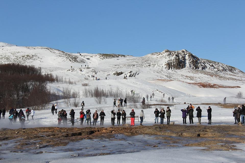 Geothermal footbath Iceland