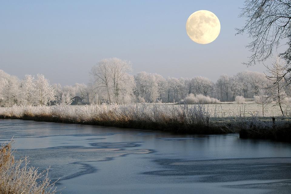 Free Photo Full Moon Moon Winter Channel Free Image
