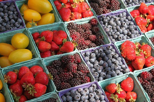Farmers Market Berries Fruit Farmers Marke