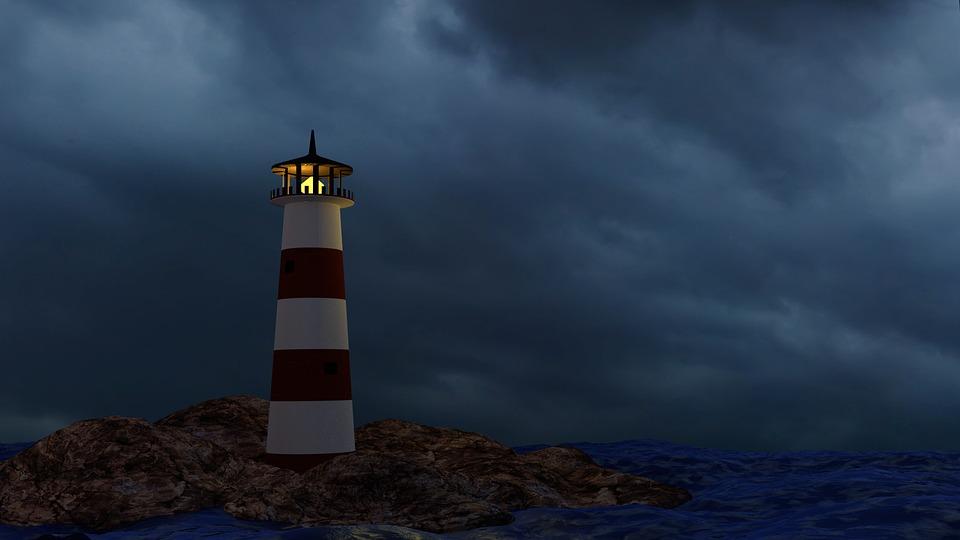 lighthouse storm ocean 183 free image on pixabay