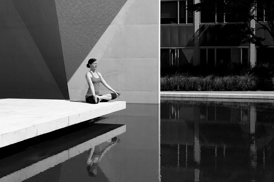 Yoga, Girl, Woman, Gray Yoga