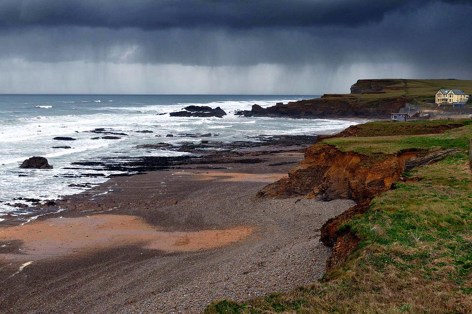 Crooklets Beach, Cornwall, Bude, England, Sea