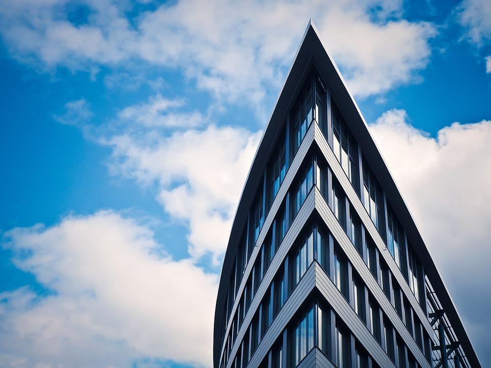 L'Architecture, Moderne, Imeuble, Gratte-Ciel, Façade