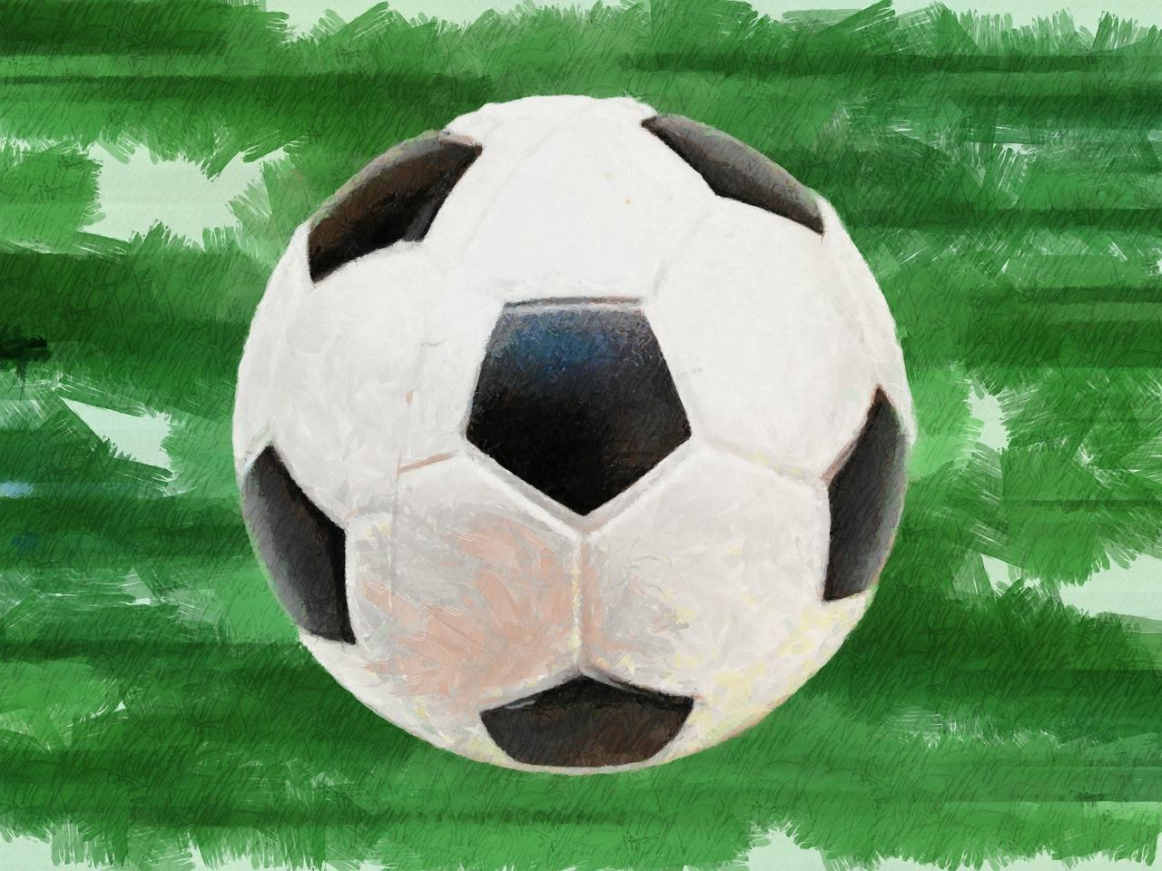 Открытка футбольный мяч
