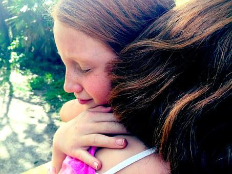 Hug Grief Sisters Sad Depression Forgivene