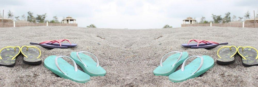 Slippers, Beach, Flipflops, Shore, Sand