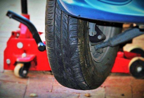 Auto Tires, Wheel Change, Jack