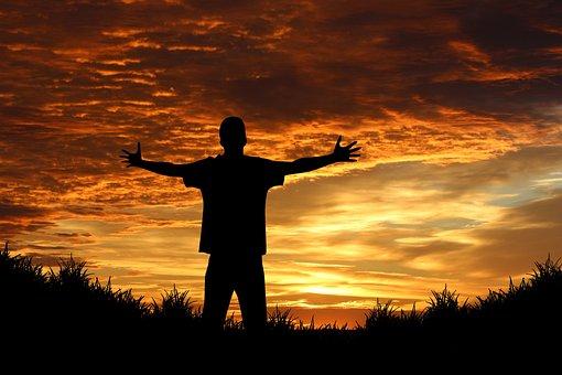 Person, Human, Joy, Sunrise, Sunset, Sun