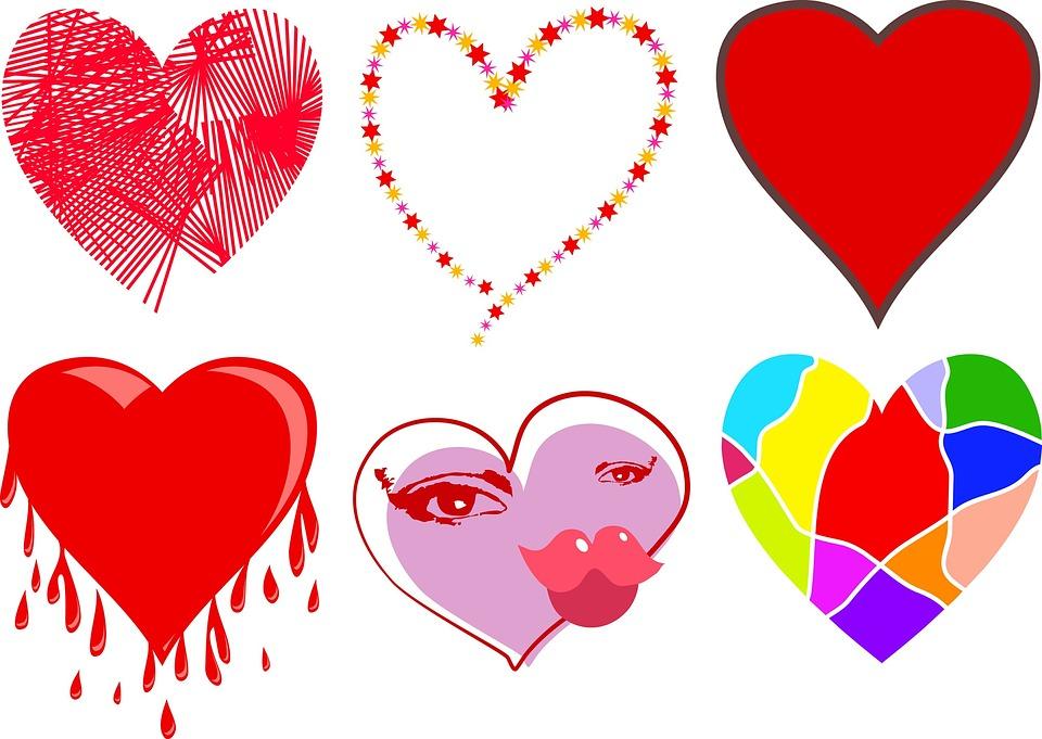 love hearts shapes free image on pixabay