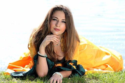 Girl, Princess, Lake, Story, Nice