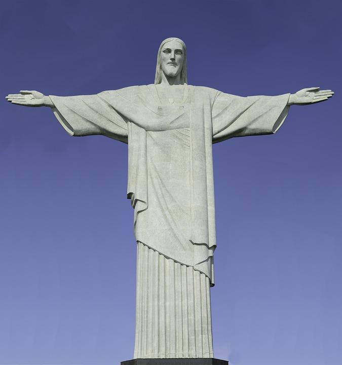 Christ The Redeemer : Kostenloses foto christusstatue rio brasilien