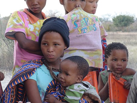 Woman Children Africans Botswana Southern