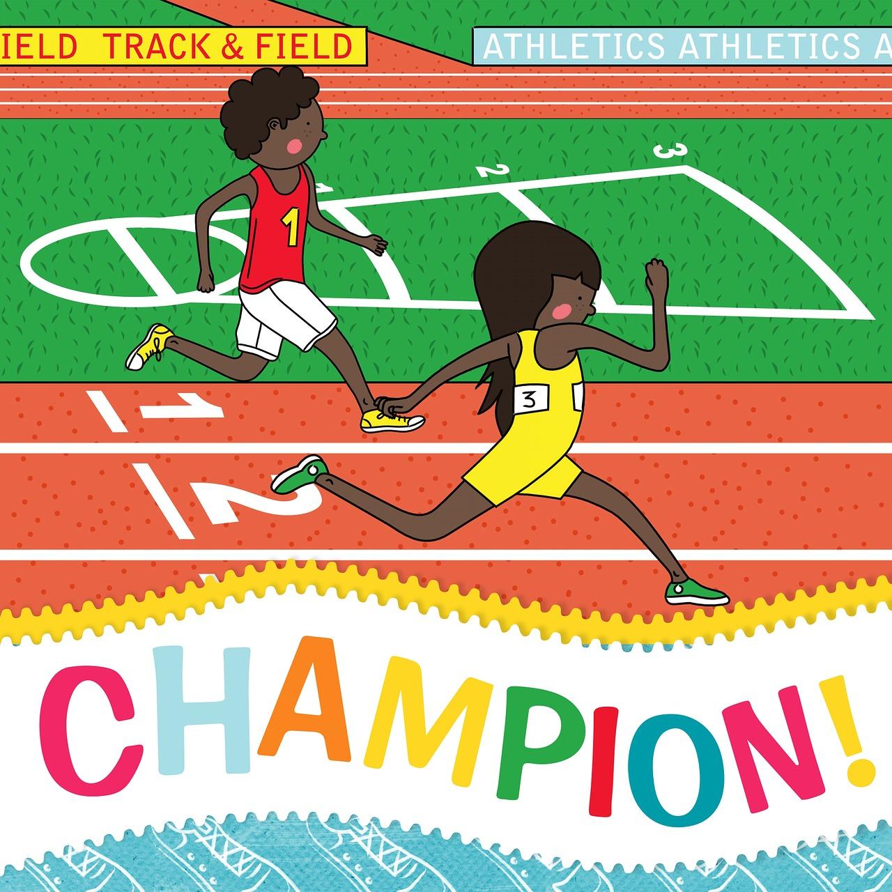 Спортивная открытка, рисунки влюбленных
