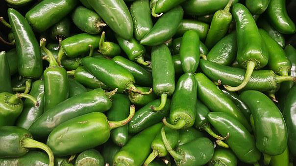 Jalapeños, Chili, Peppers, Hot, Green
