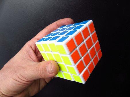 Magic Cube, Hand, Puzzle, Toys